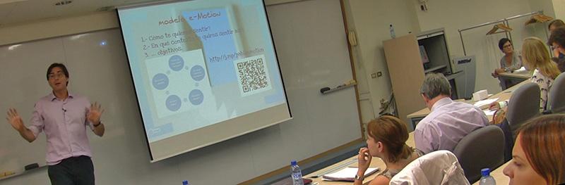 Pablo Franzo teaching the e-motion coaching model